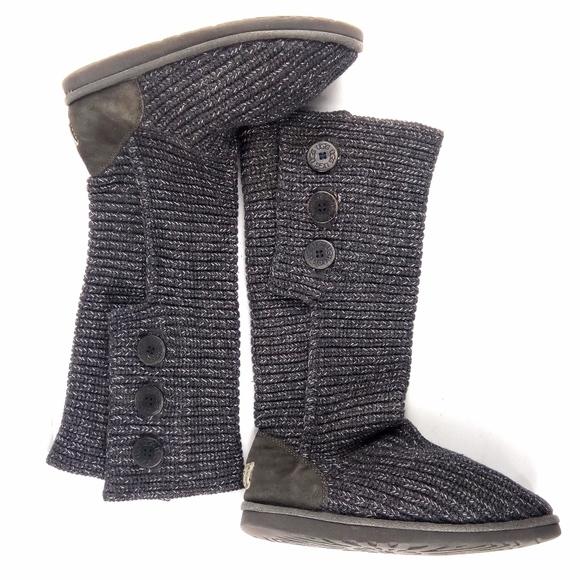 6c5b10de104 Ugg Australia 9 Classic Cardy Grey Knit Tall Boots